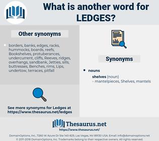 ledges, synonym ledges, another word for ledges, words like ledges, thesaurus ledges