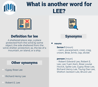 lee, synonym lee, another word for lee, words like lee, thesaurus lee