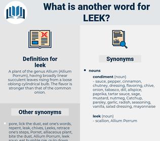 leek, synonym leek, another word for leek, words like leek, thesaurus leek