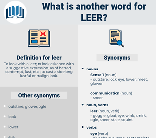 leer, synonym leer, another word for leer, words like leer, thesaurus leer
