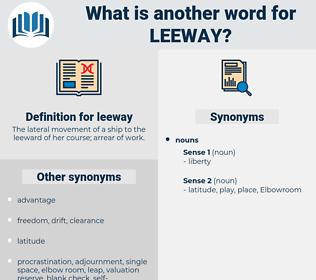 leeway, synonym leeway, another word for leeway, words like leeway, thesaurus leeway