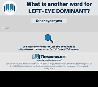left-eye dominant, synonym left-eye dominant, another word for left-eye dominant, words like left-eye dominant, thesaurus left-eye dominant