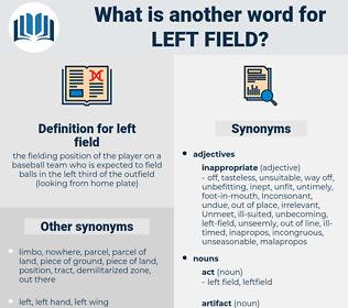 left-field, synonym left-field, another word for left-field, words like left-field, thesaurus left-field