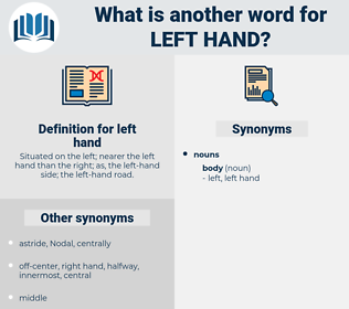 left hand, synonym left hand, another word for left hand, words like left hand, thesaurus left hand