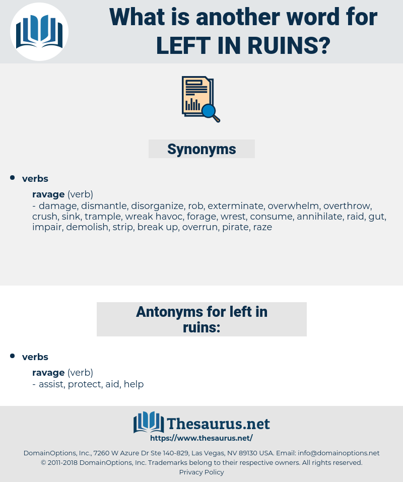 left in ruins, synonym left in ruins, another word for left in ruins, words like left in ruins, thesaurus left in ruins