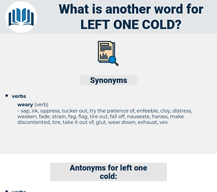 left one cold, synonym left one cold, another word for left one cold, words like left one cold, thesaurus left one cold