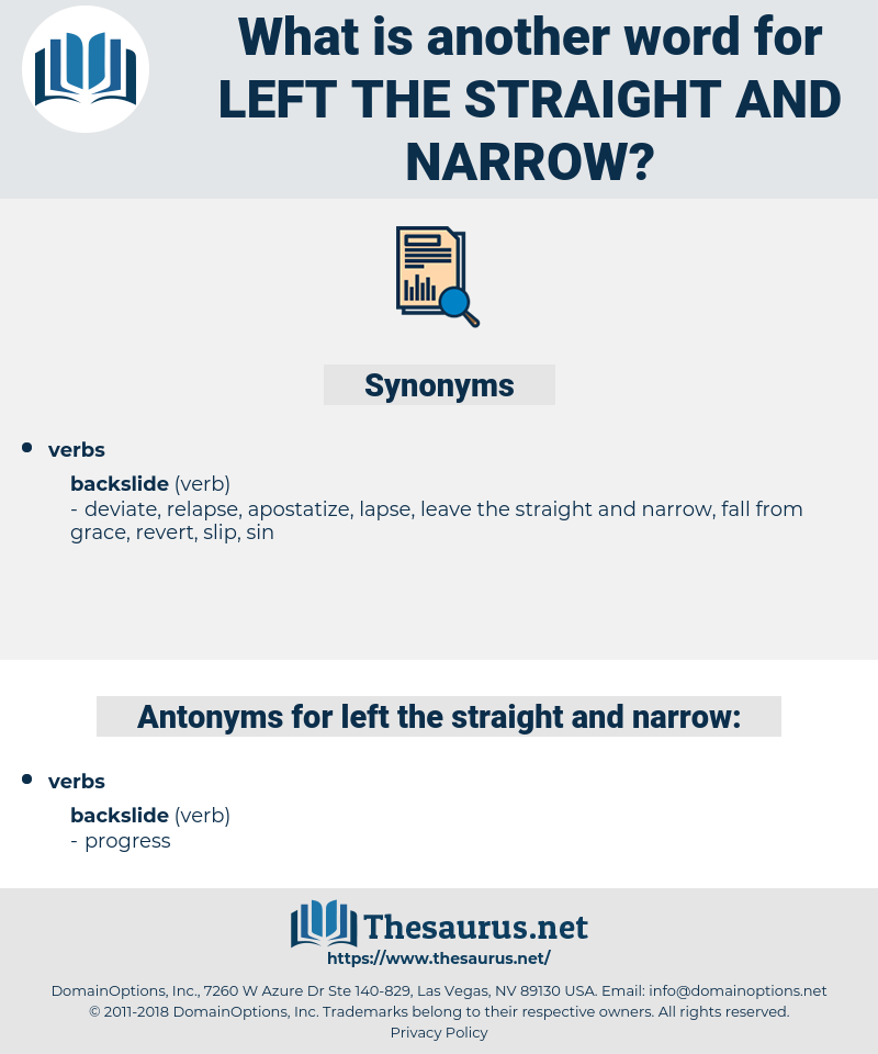 left the straight and narrow, synonym left the straight and narrow, another word for left the straight and narrow, words like left the straight and narrow, thesaurus left the straight and narrow