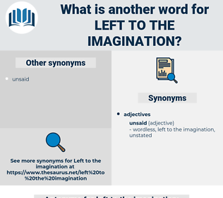 left to the imagination, synonym left to the imagination, another word for left to the imagination, words like left to the imagination, thesaurus left to the imagination