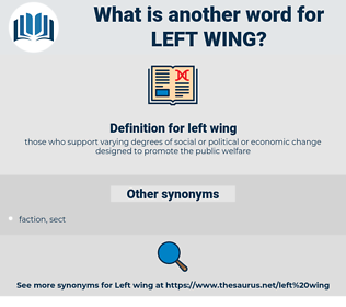 left wing, synonym left wing, another word for left wing, words like left wing, thesaurus left wing