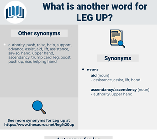 leg up, synonym leg up, another word for leg up, words like leg up, thesaurus leg up