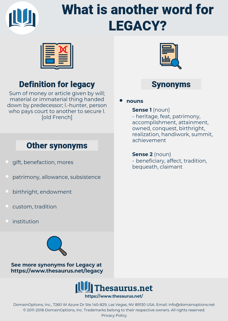 legacy, synonym legacy, another word for legacy, words like legacy, thesaurus legacy