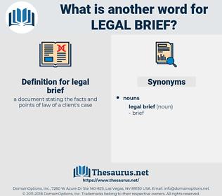 legal brief, synonym legal brief, another word for legal brief, words like legal brief, thesaurus legal brief