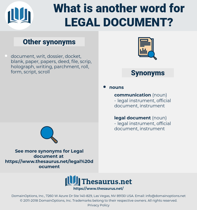 legal document, synonym legal document, another word for legal document, words like legal document, thesaurus legal document