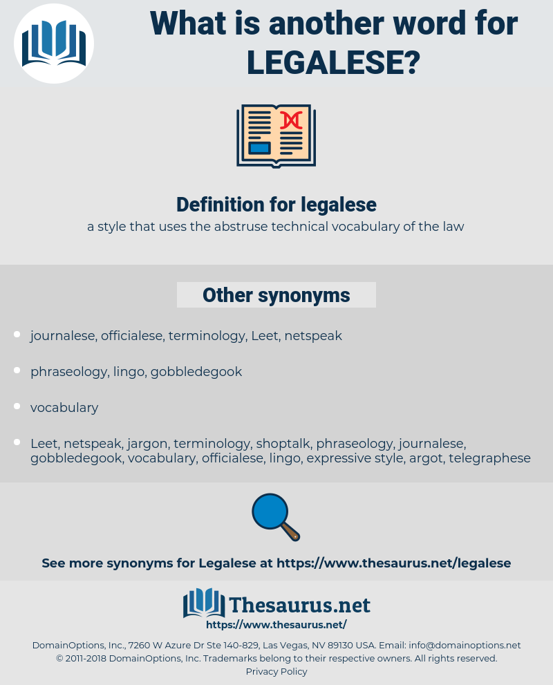 legalese, synonym legalese, another word for legalese, words like legalese, thesaurus legalese