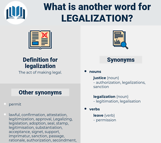legalization, synonym legalization, another word for legalization, words like legalization, thesaurus legalization