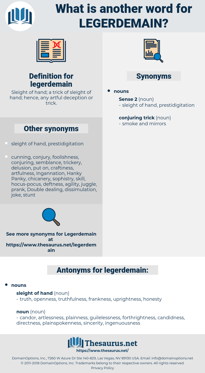 legerdemain, synonym legerdemain, another word for legerdemain, words like legerdemain, thesaurus legerdemain