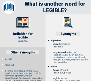 legible, synonym legible, another word for legible, words like legible, thesaurus legible