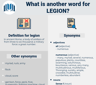 legion, synonym legion, another word for legion, words like legion, thesaurus legion