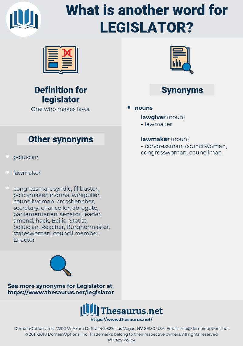 legislator, synonym legislator, another word for legislator, words like legislator, thesaurus legislator