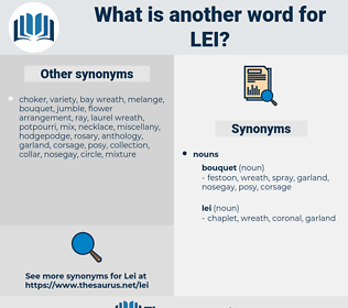 lei, synonym lei, another word for lei, words like lei, thesaurus lei
