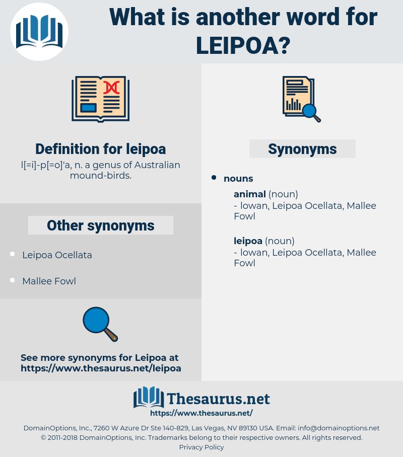 leipoa, synonym leipoa, another word for leipoa, words like leipoa, thesaurus leipoa