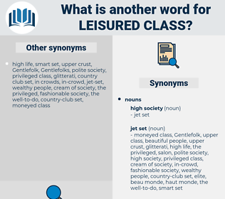leisured class, synonym leisured class, another word for leisured class, words like leisured class, thesaurus leisured class