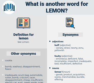 lemon, synonym lemon, another word for lemon, words like lemon, thesaurus lemon