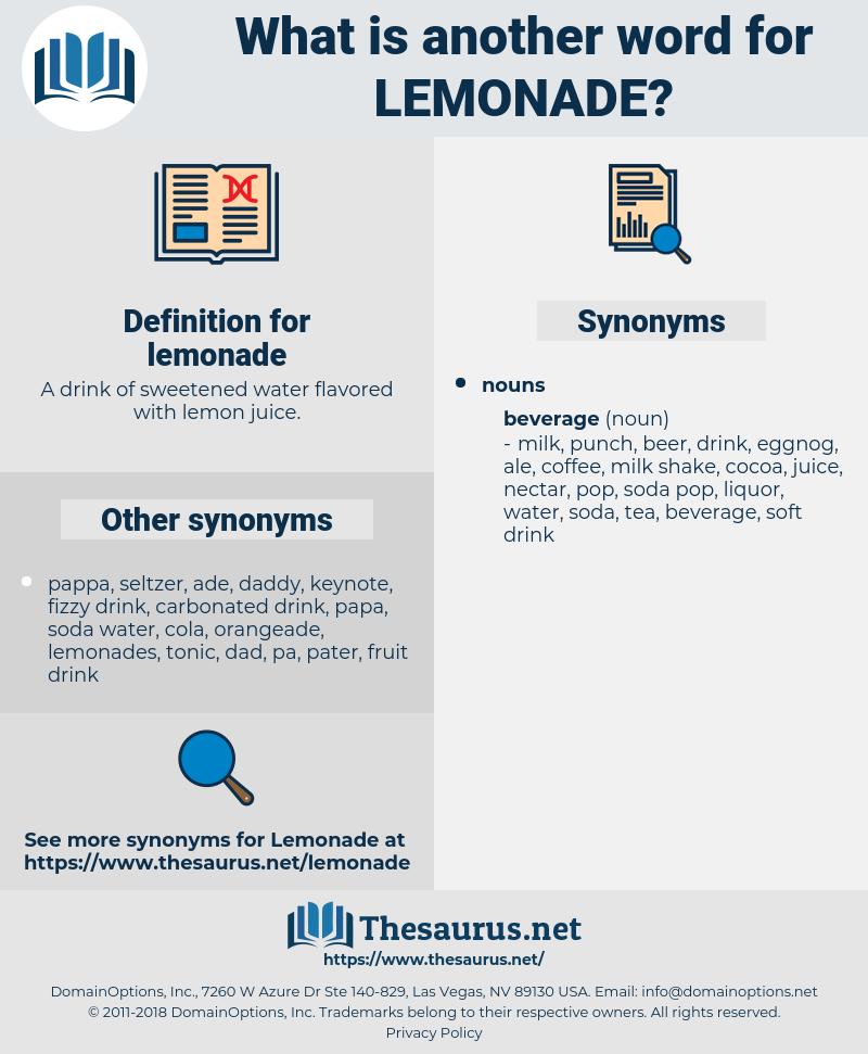 lemonade, synonym lemonade, another word for lemonade, words like lemonade, thesaurus lemonade