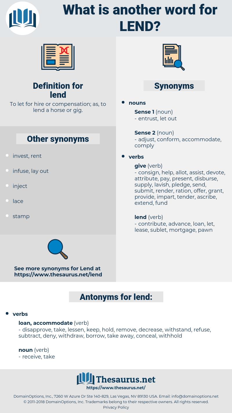 lend, synonym lend, another word for lend, words like lend, thesaurus lend