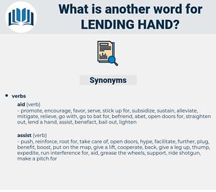 lending hand, synonym lending hand, another word for lending hand, words like lending hand, thesaurus lending hand