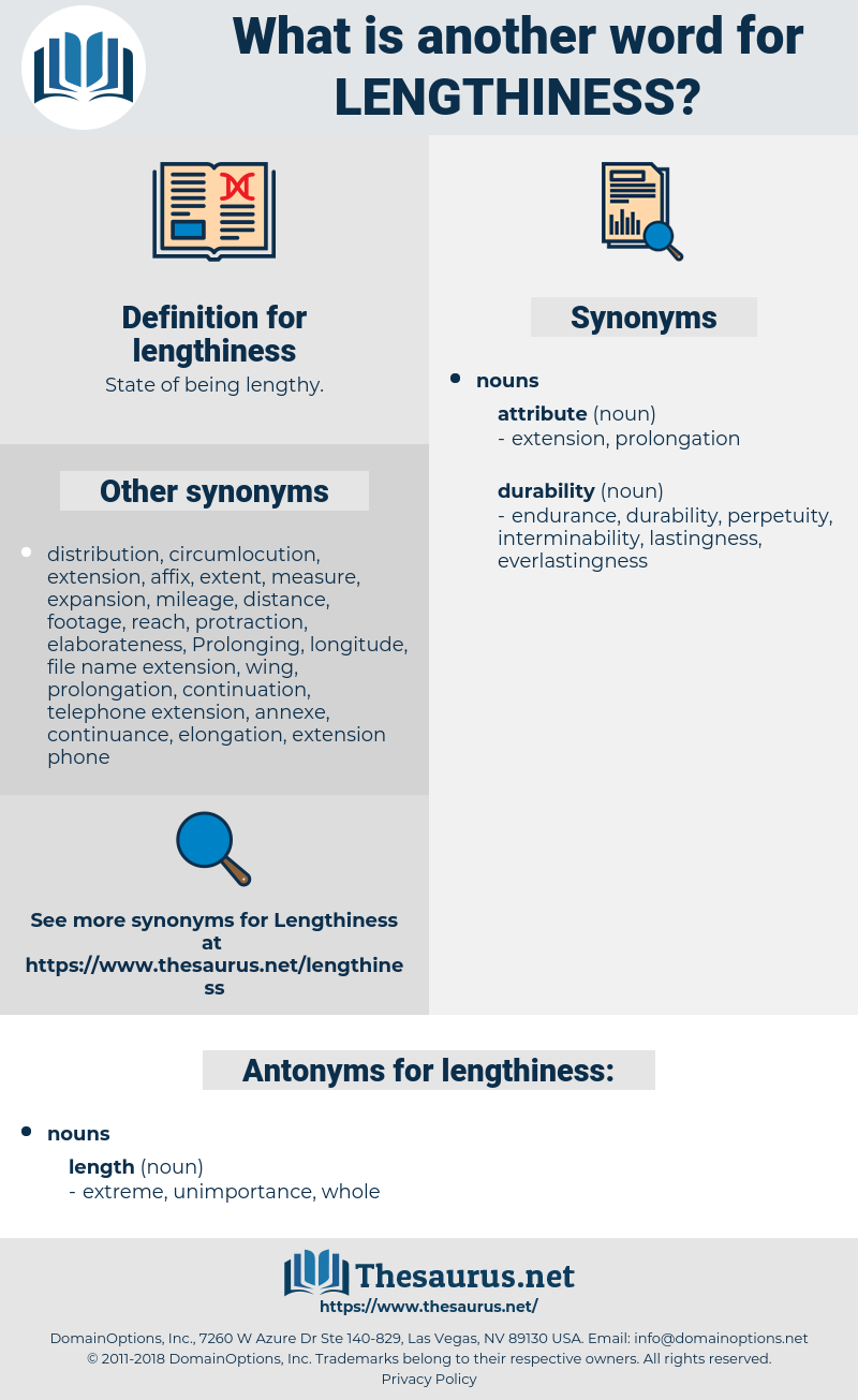 lengthiness, synonym lengthiness, another word for lengthiness, words like lengthiness, thesaurus lengthiness