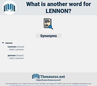 lennon, synonym lennon, another word for lennon, words like lennon, thesaurus lennon
