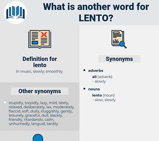 lento, synonym lento, another word for lento, words like lento, thesaurus lento