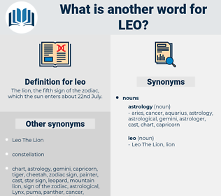 leo, synonym leo, another word for leo, words like leo, thesaurus leo