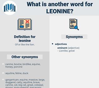 leonine, synonym leonine, another word for leonine, words like leonine, thesaurus leonine