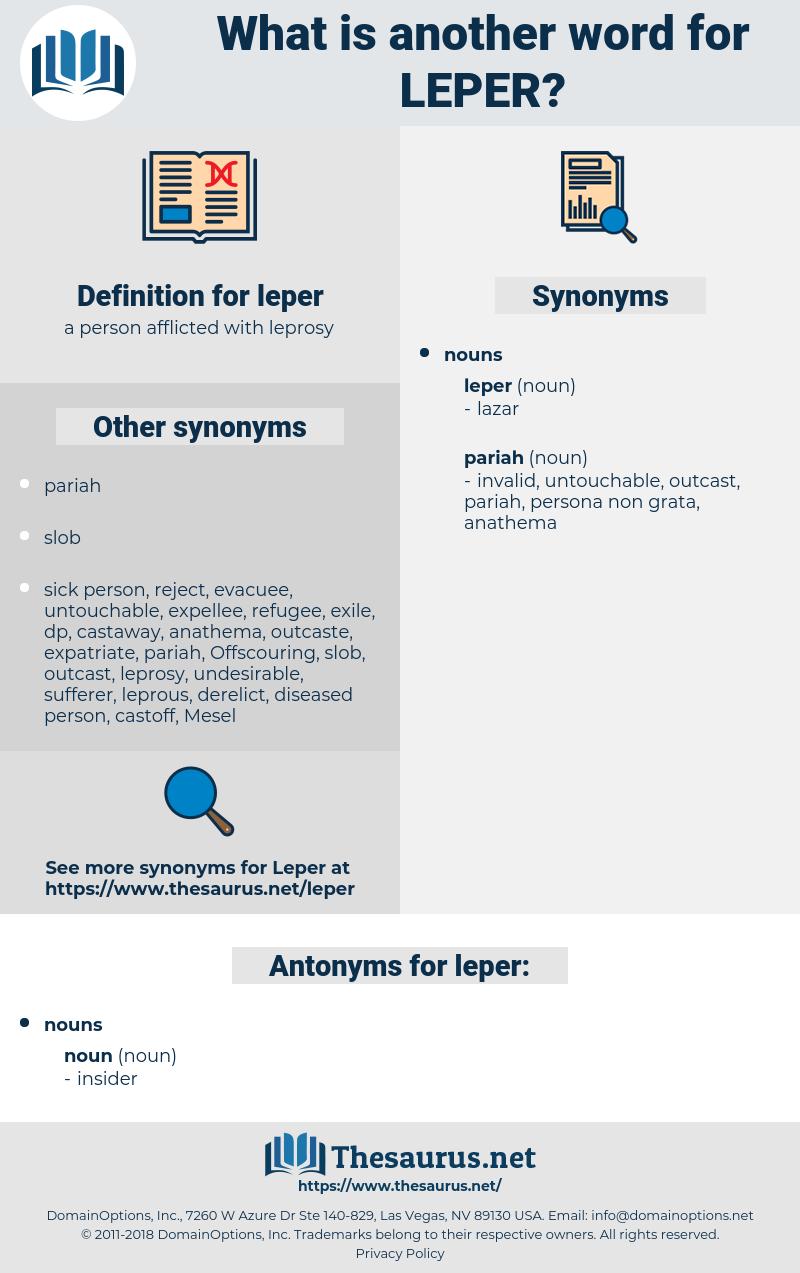 leper, synonym leper, another word for leper, words like leper, thesaurus leper