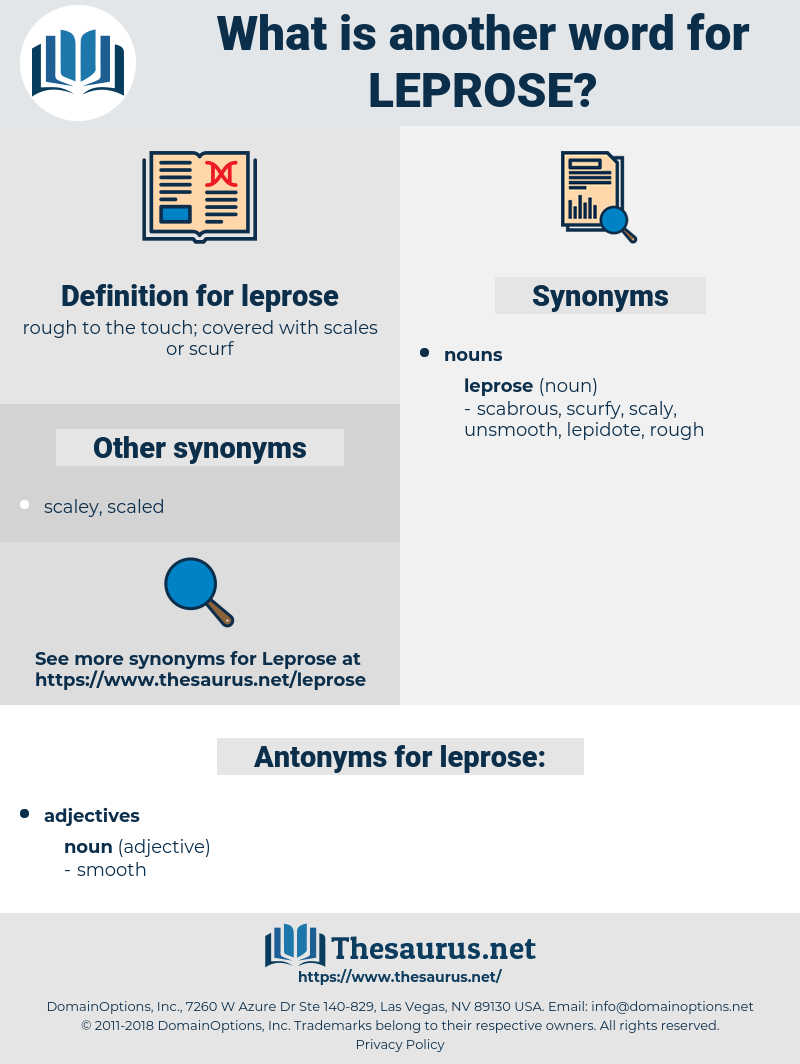leprose, synonym leprose, another word for leprose, words like leprose, thesaurus leprose