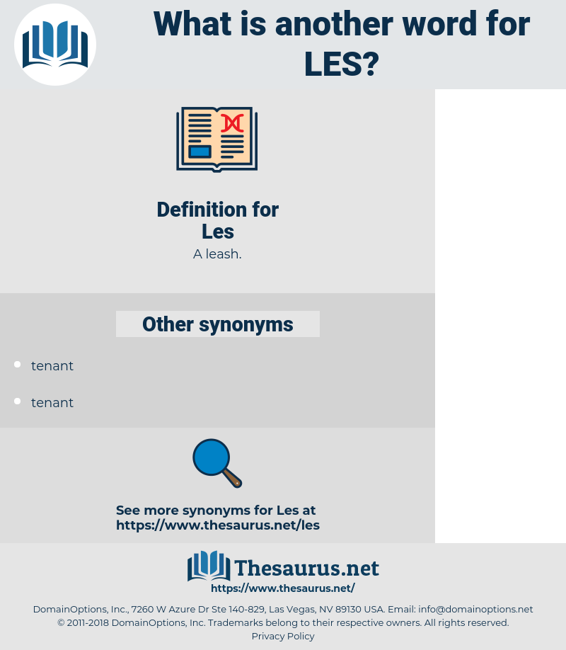 Les, synonym Les, another word for Les, words like Les, thesaurus Les