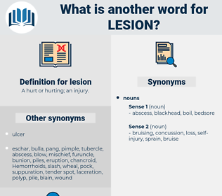 lesion, synonym lesion, another word for lesion, words like lesion, thesaurus lesion