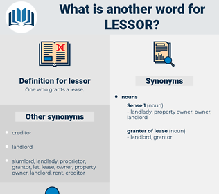 lessor, synonym lessor, another word for lessor, words like lessor, thesaurus lessor