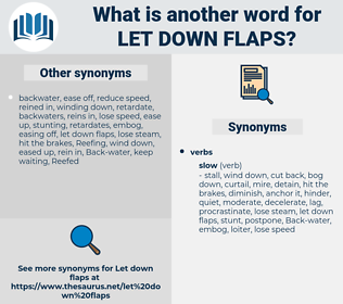 let down flaps, synonym let down flaps, another word for let down flaps, words like let down flaps, thesaurus let down flaps