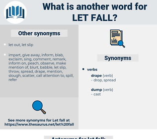 let fall, synonym let fall, another word for let fall, words like let fall, thesaurus let fall