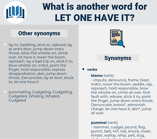 let one have it, synonym let one have it, another word for let one have it, words like let one have it, thesaurus let one have it