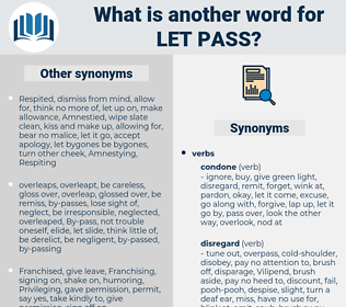 let pass, synonym let pass, another word for let pass, words like let pass, thesaurus let pass