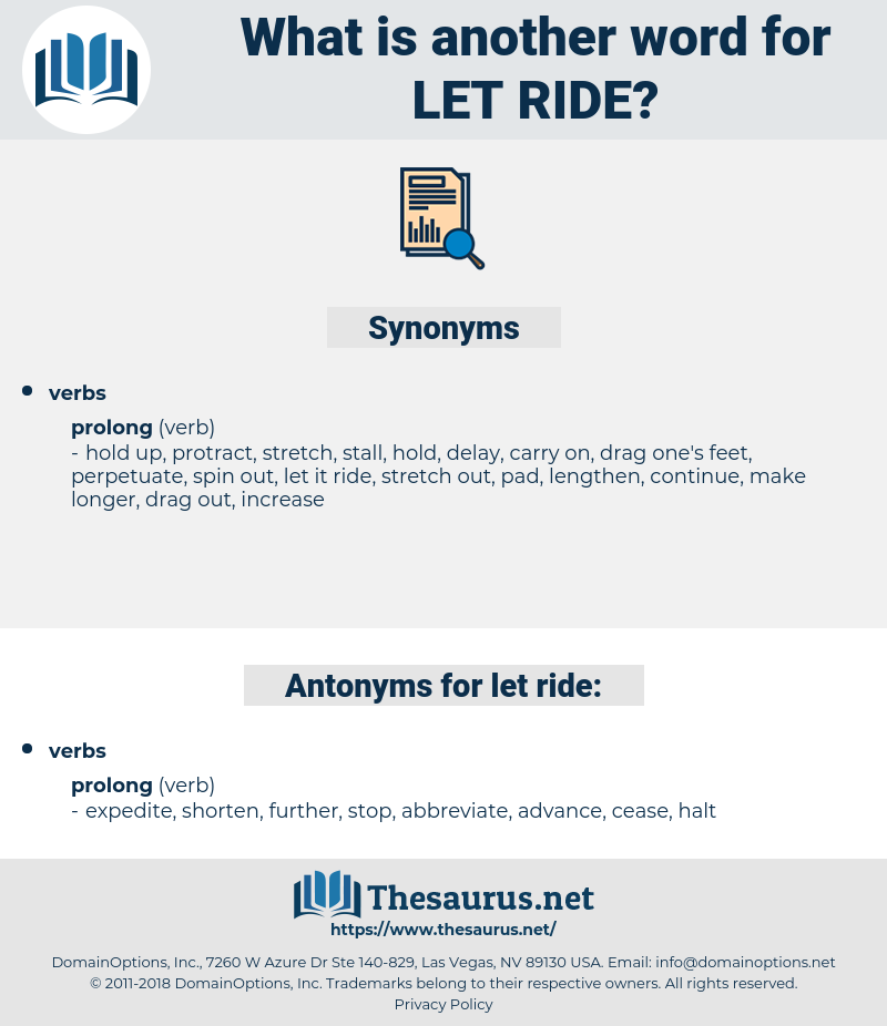 let ride, synonym let ride, another word for let ride, words like let ride, thesaurus let ride