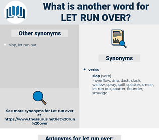 let run over, synonym let run over, another word for let run over, words like let run over, thesaurus let run over