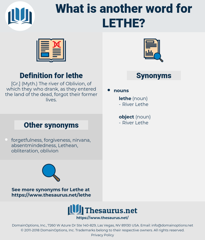 lethe, synonym lethe, another word for lethe, words like lethe, thesaurus lethe