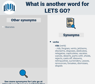 lets go, synonym lets go, another word for lets go, words like lets go, thesaurus lets go