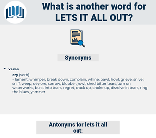 lets it all out, synonym lets it all out, another word for lets it all out, words like lets it all out, thesaurus lets it all out