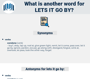 lets it go by, synonym lets it go by, another word for lets it go by, words like lets it go by, thesaurus lets it go by